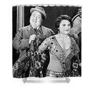 Silent Still: Man & Woman Shower Curtain