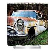 50's Cruiser Of The Past Shower Curtain by Steve McKinzie