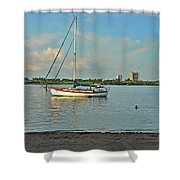 51- Phil Foster Park-singer Island Shower Curtain