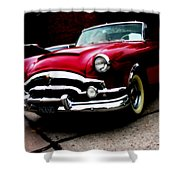 53 Packard Caribbean Convertible Coupe Shower Curtain