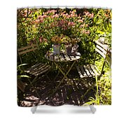 542 Cf Peaceful Garden Shower Curtain