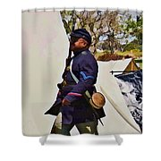 54th Massachusetts Shower Curtain
