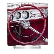55 Chevy Ss Dash Shower Curtain