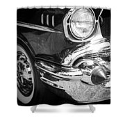 57 Chevy Black Shower Curtain by Steve McKinzie