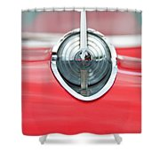 '57 Chevy Hood Ornament 8508 Shower Curtain