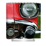 57 Chevy Left Front 8560 Shower Curtain