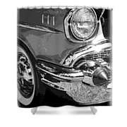57 Chevy  Shower Curtain by Steve McKinzie