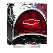 57 Chevy Tail Light Shower Curtain