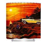 57 Merc Sunset Shower Curtain