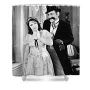 Silent Film Still: Couples Shower Curtain