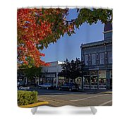5th And G Street In Grants Pass With Text Shower Curtain