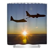 A Mc-130h Combat Talon II Shower Curtain