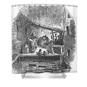 Arkansas: Hot Springs, 1878 Shower Curtain