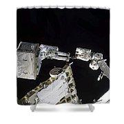 Astronaut Participates Shower Curtain