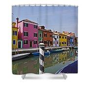 Burano - Venice - Italy Shower Curtain