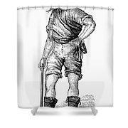 California Gold Rush, 1852 Shower Curtain