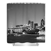 City Of London Skyline Shower Curtain