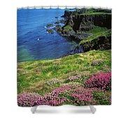 Dunluce Castle, Co Antrim, Ireland Shower Curtain