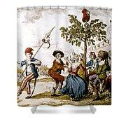 French Revolution, 1792 Shower Curtain