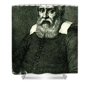 Galileo Galilei, Italian Polymath Shower Curtain