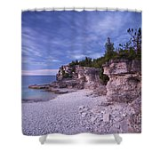 Georgian Bay Cliffs At Sunset Shower Curtain