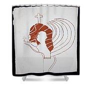 Guardian Angel Shower Curtain by Gloria Ssali
