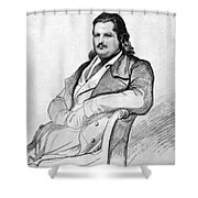 Honore De Balzac (1799-1850) Shower Curtain by Granger