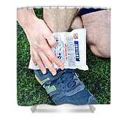 Injured Ankle Shower Curtain