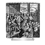 Louis Xiii (1601-1643) Shower Curtain by Granger