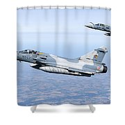 Mirage 2000c Of The French Air Force Shower Curtain