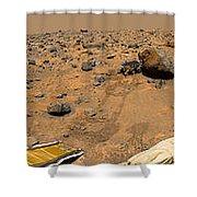 Panoramic View Of Mars Shower Curtain