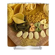 Pasta Shower Curtain by Photo Researchers, Inc.