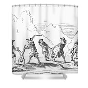 Persecution Of Waldenses Shower Curtain by Granger