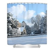 Snowy Scene In England Shower Curtain