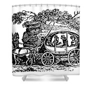 Stagecoach, 19th Century Shower Curtain