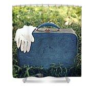 Suitcase Shower Curtain