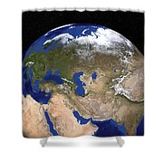 The Blue Marble Next Generation Earth Shower Curtain by Stocktrek Images