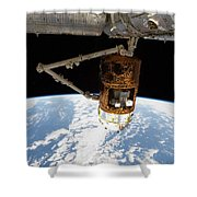 The Japanese H-ii Transfer Vehicle Shower Curtain by Stocktrek Images