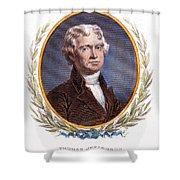 Thomas Jefferson (1743-1826): Shower Curtain