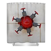 6 Valve Shower Curtain