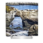 615 Det Rocky Bridge Shower Curtain