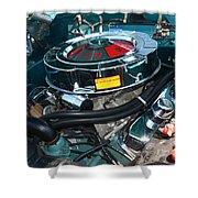 65 Plymouth Satellite Engine-8482 Shower Curtain