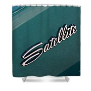 65 Plymouth Satellite Logo-8502 Shower Curtain