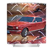 66 Fastback Shower Curtain