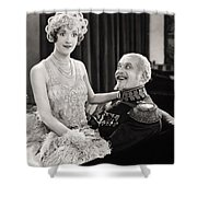 Silent Film Still: Couples Shower Curtain