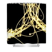 Abstract Lighting Effect  Shower Curtain