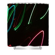 Abstract Motion Lights Shower Curtain