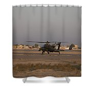 An Ah-64d Apache Longbow Block IIi Shower Curtain