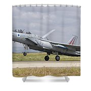 An F-15c Eagle Baz Aircraft Shower Curtain