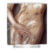 Beautiful Soiled Naked Woman's Body Shower Curtain